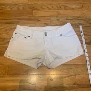 Short White denim shorts